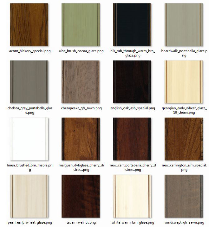 Wood Finish Options