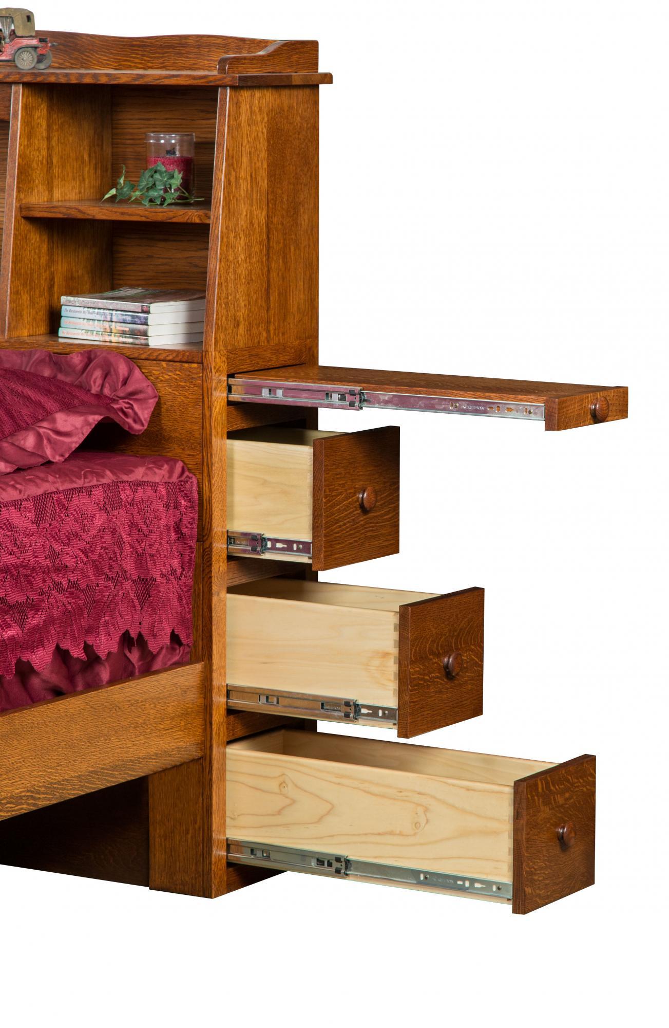 Bookcase Headboard Bed B Amish Furniture Store Mankato Mn