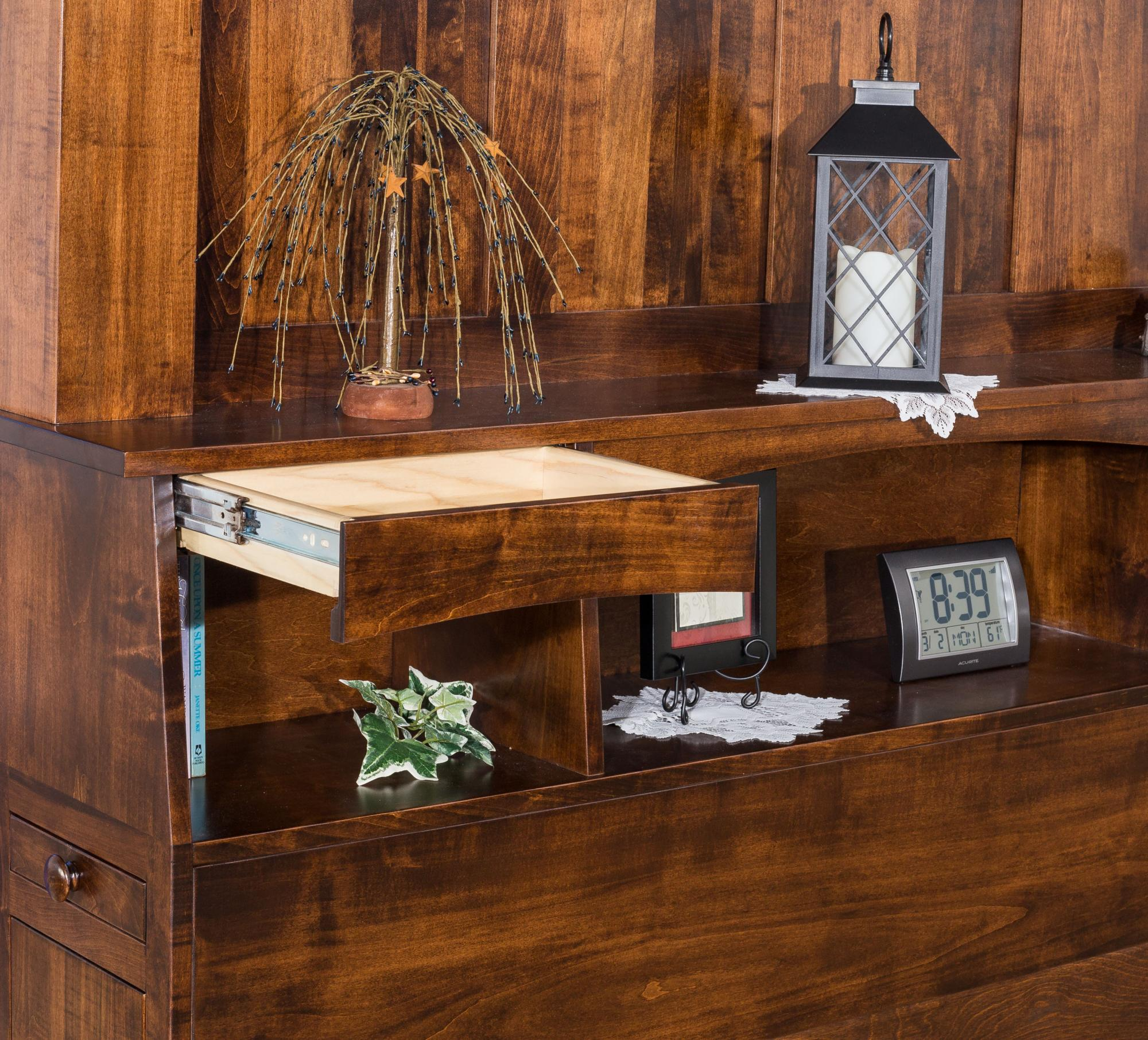 Empire Bookcase Head Board Amish Furniture Store Mankato Mn