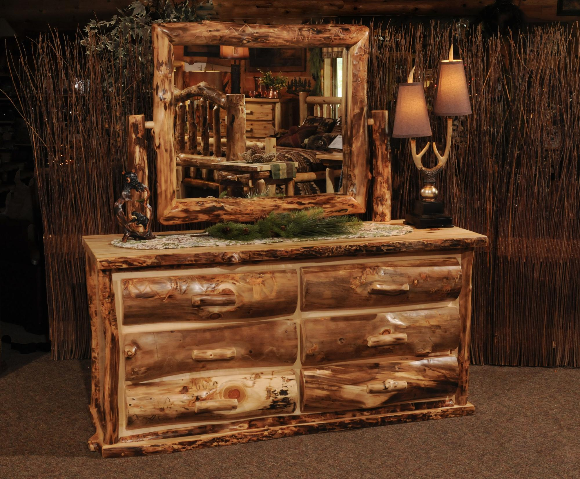 Aspen Extreme Dresser And Mirrors Amish Furniture Store