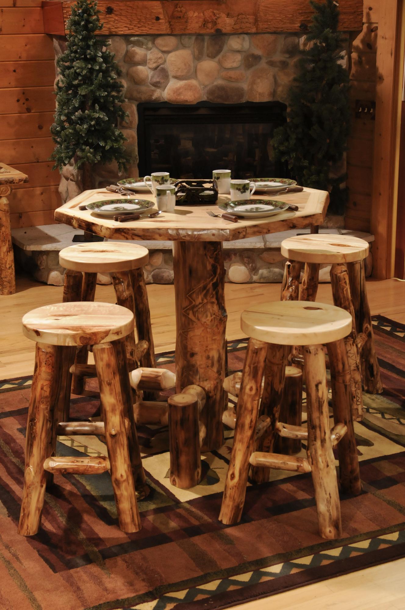 Aspen Octagon Pub Table Amish Furniture Store Mankato Mn
