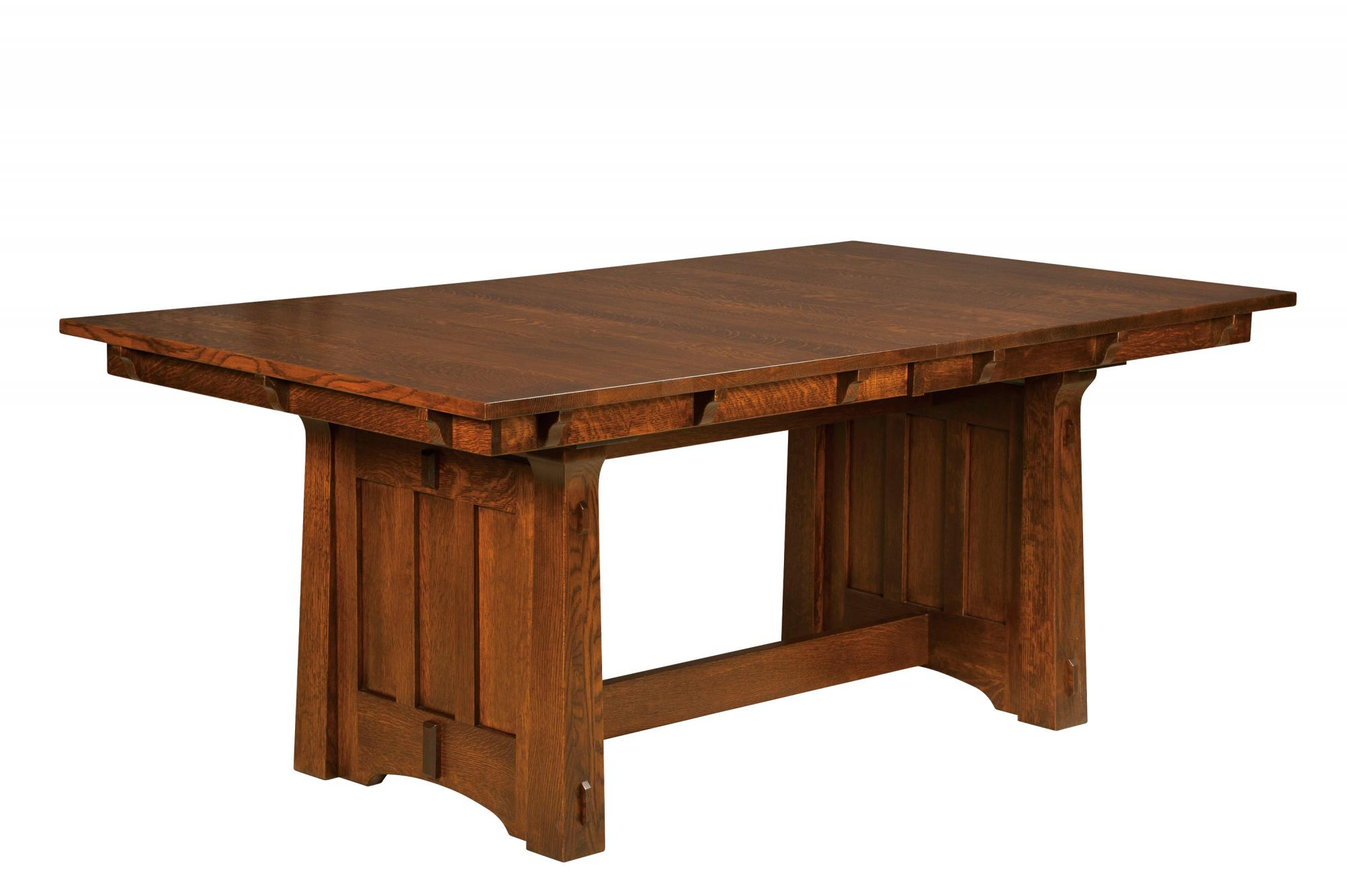 Beaumont Trestle Table Amish Furniture Store Mankato Mn