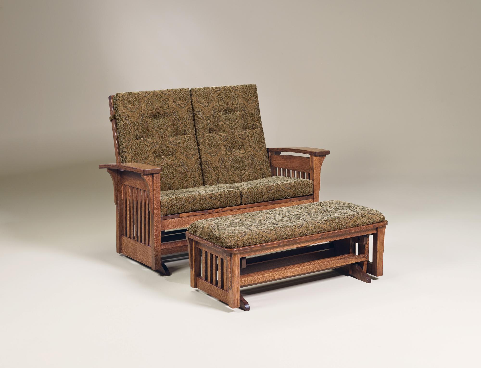 Bow Arm Glider Amish Furniture Store Mankato Mn