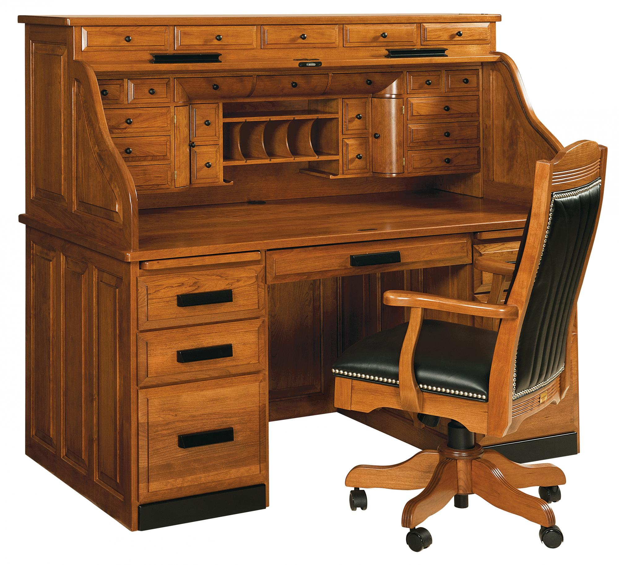 Classic Deluxe Roll Top Desk Amish Furniture Store