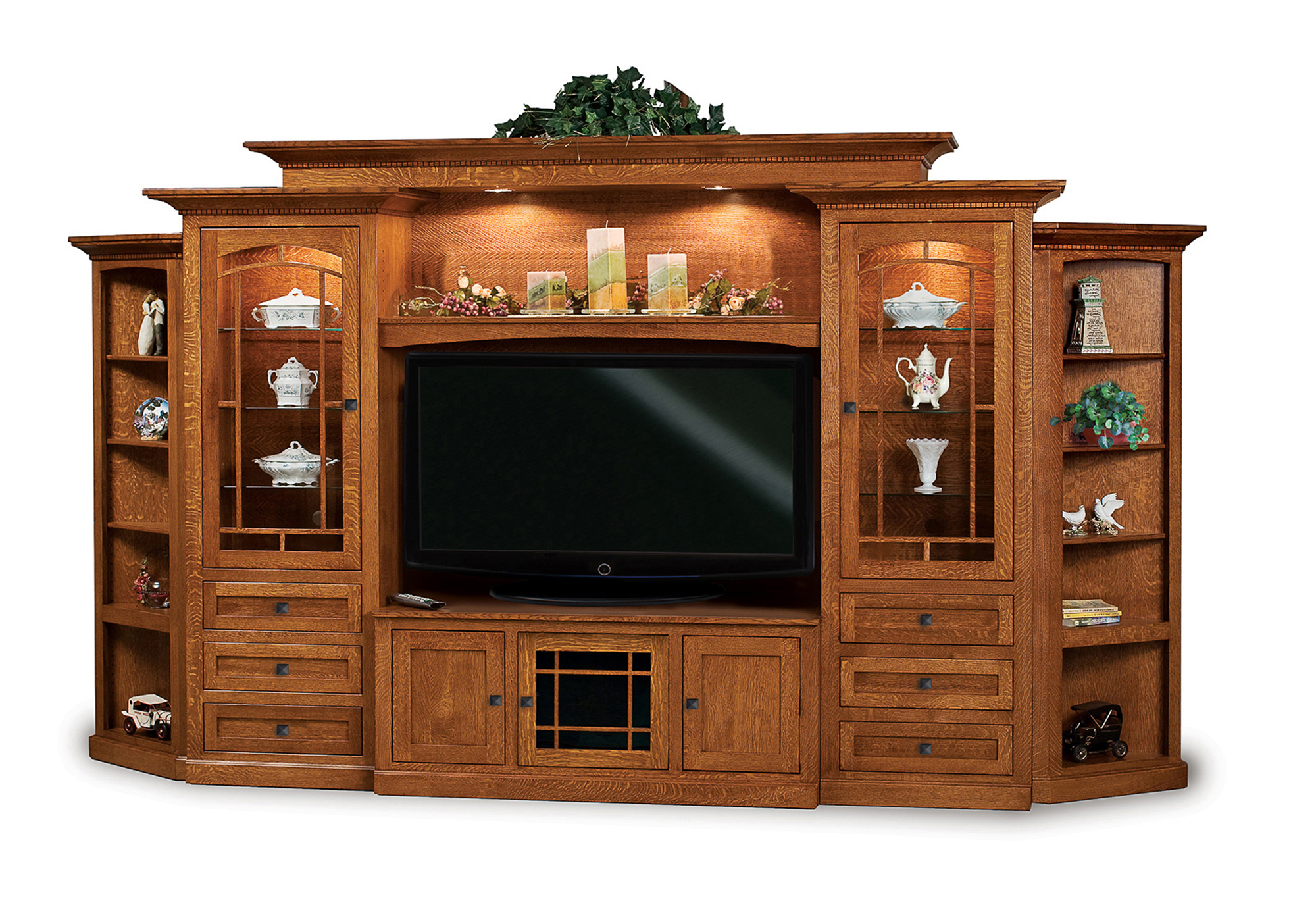 Manhattan Mission Home Theater Wall Unit Amish Furniture Store Mankato Mn