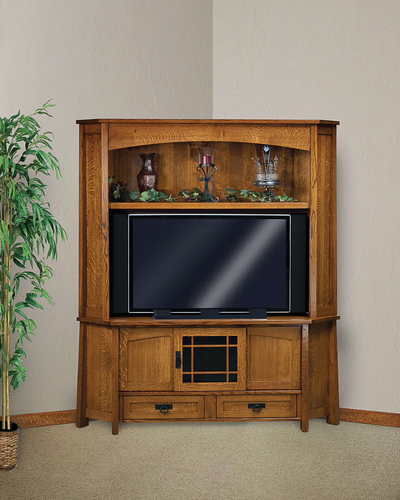 Modesto Corner Consoles Amish Furniture Store Mankato Mn