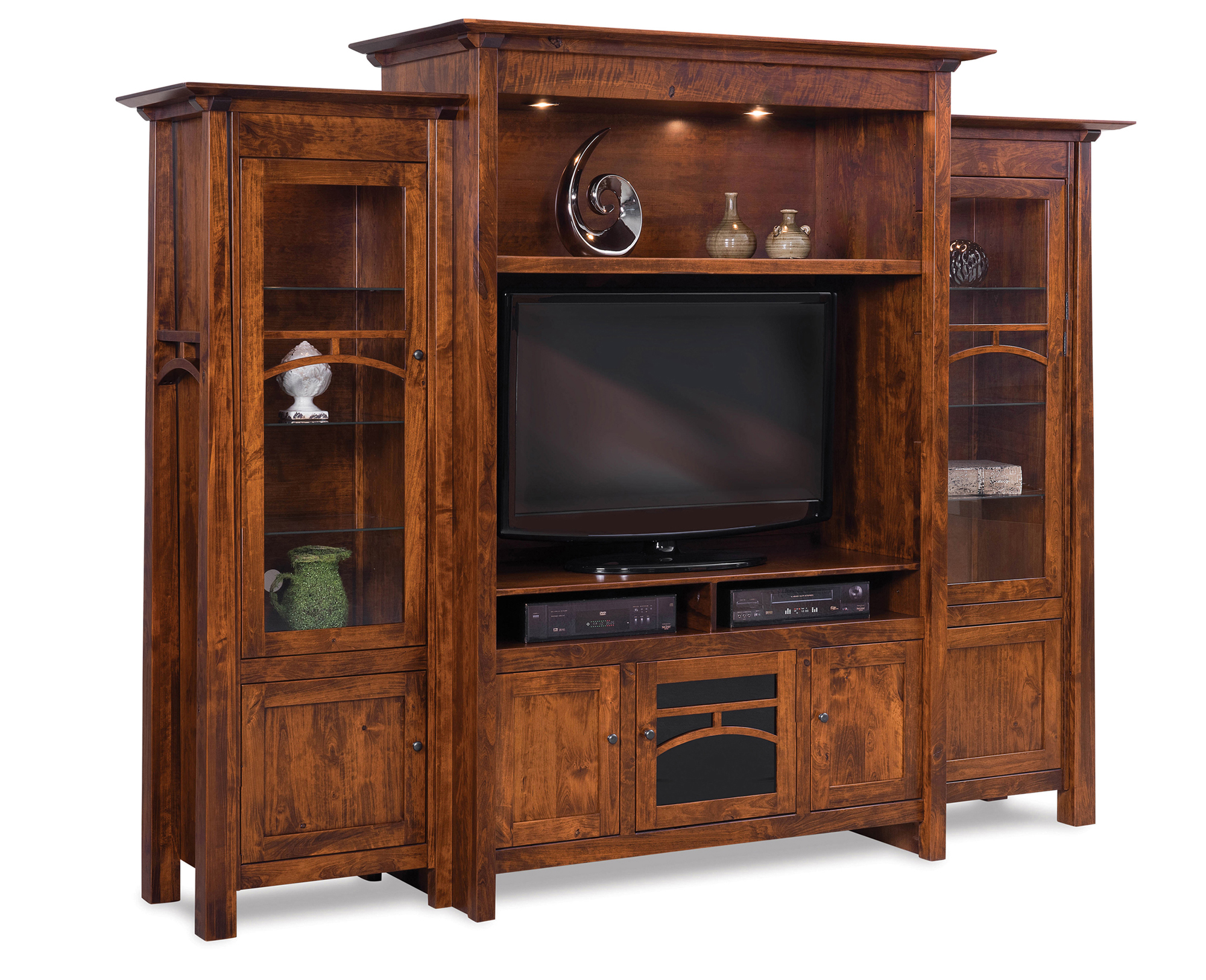 Artesa Home Theater 3 Piece Wall Unit Amish Furniture