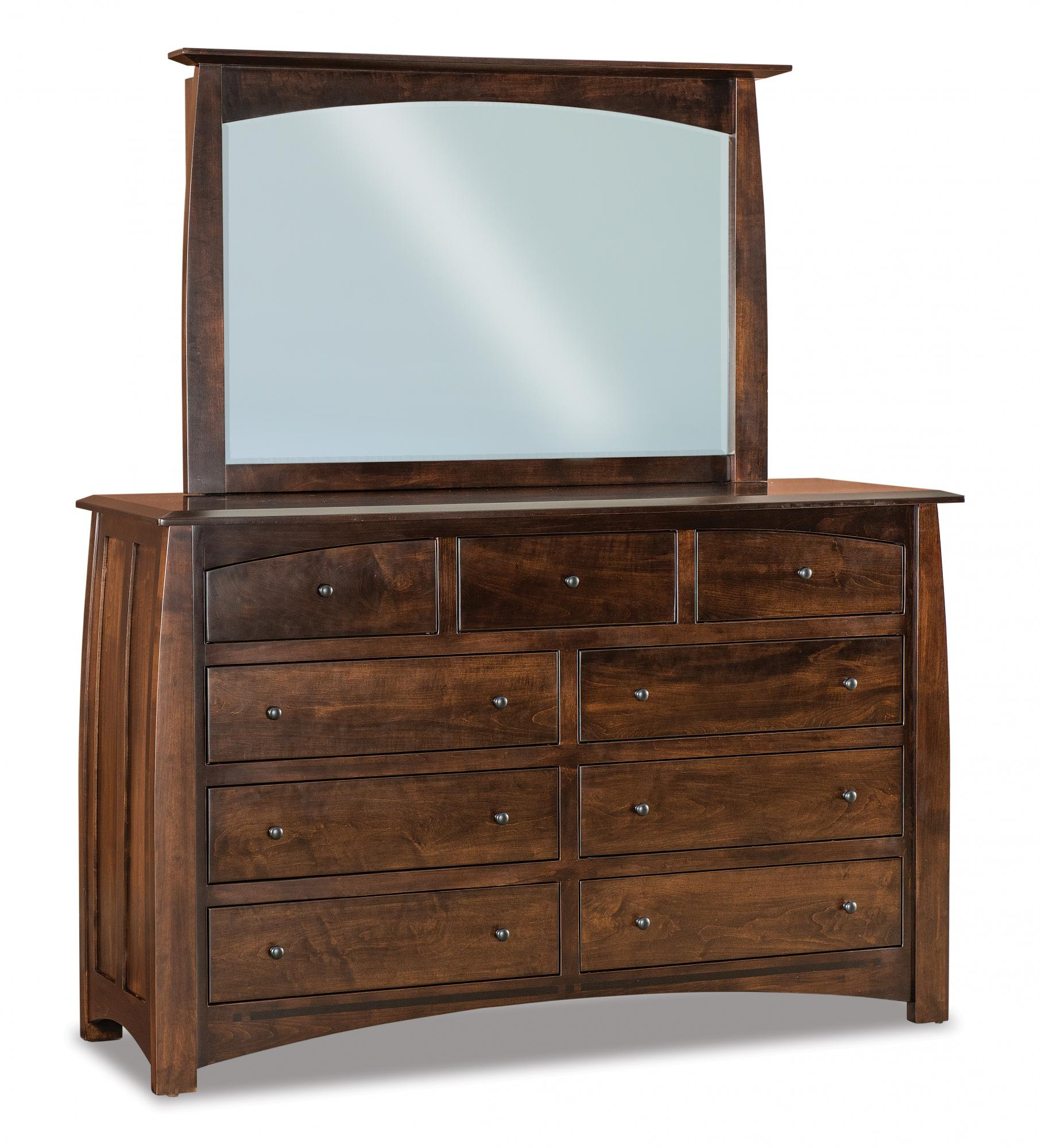Boulder Creek 9 Drawer Dressers Amish Furniture Store Mankato Mn