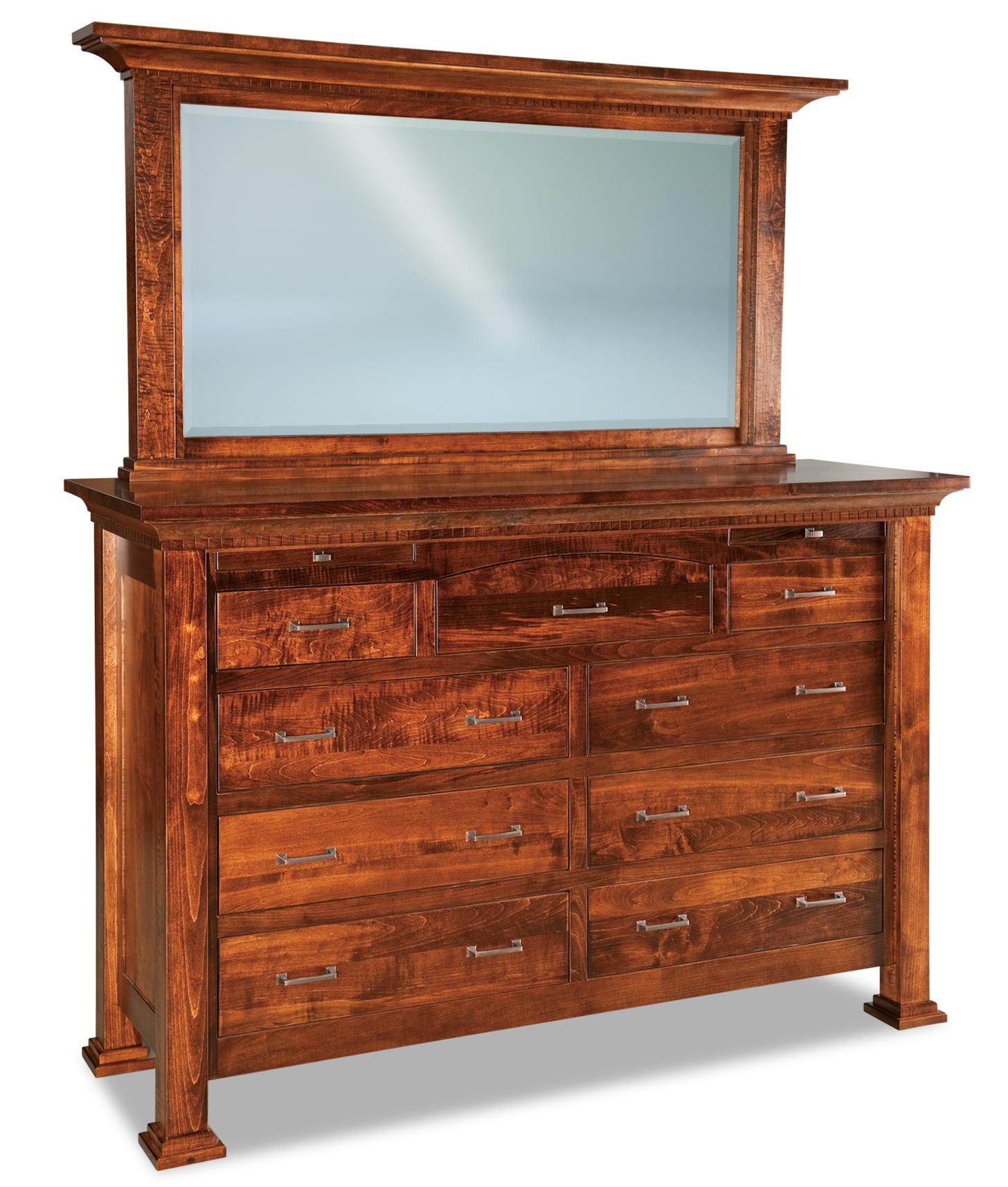 Empire 9 Drawer Dressers Amish Furniture Store Mankato Mn