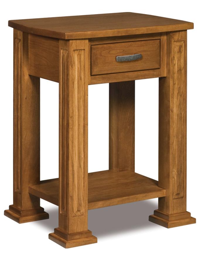 1 Drawer Open Nightstand Amish Furniture Store Mankato MN