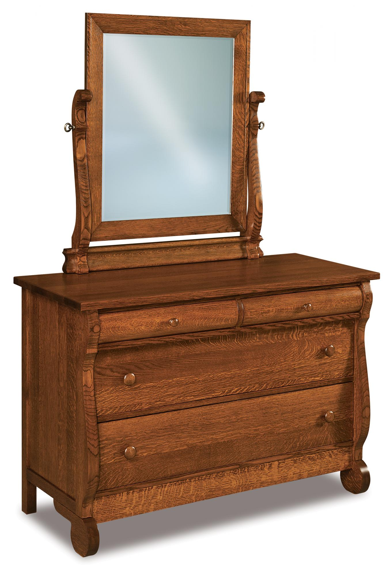 old classic sleigh 4 drawer dresser