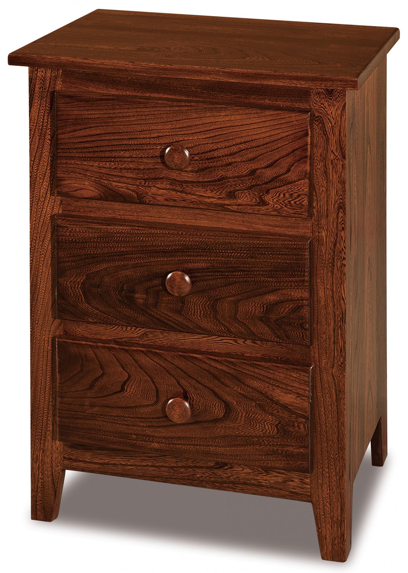 shaker 3 drawer nightstand - amish furniture store - mankato, mn