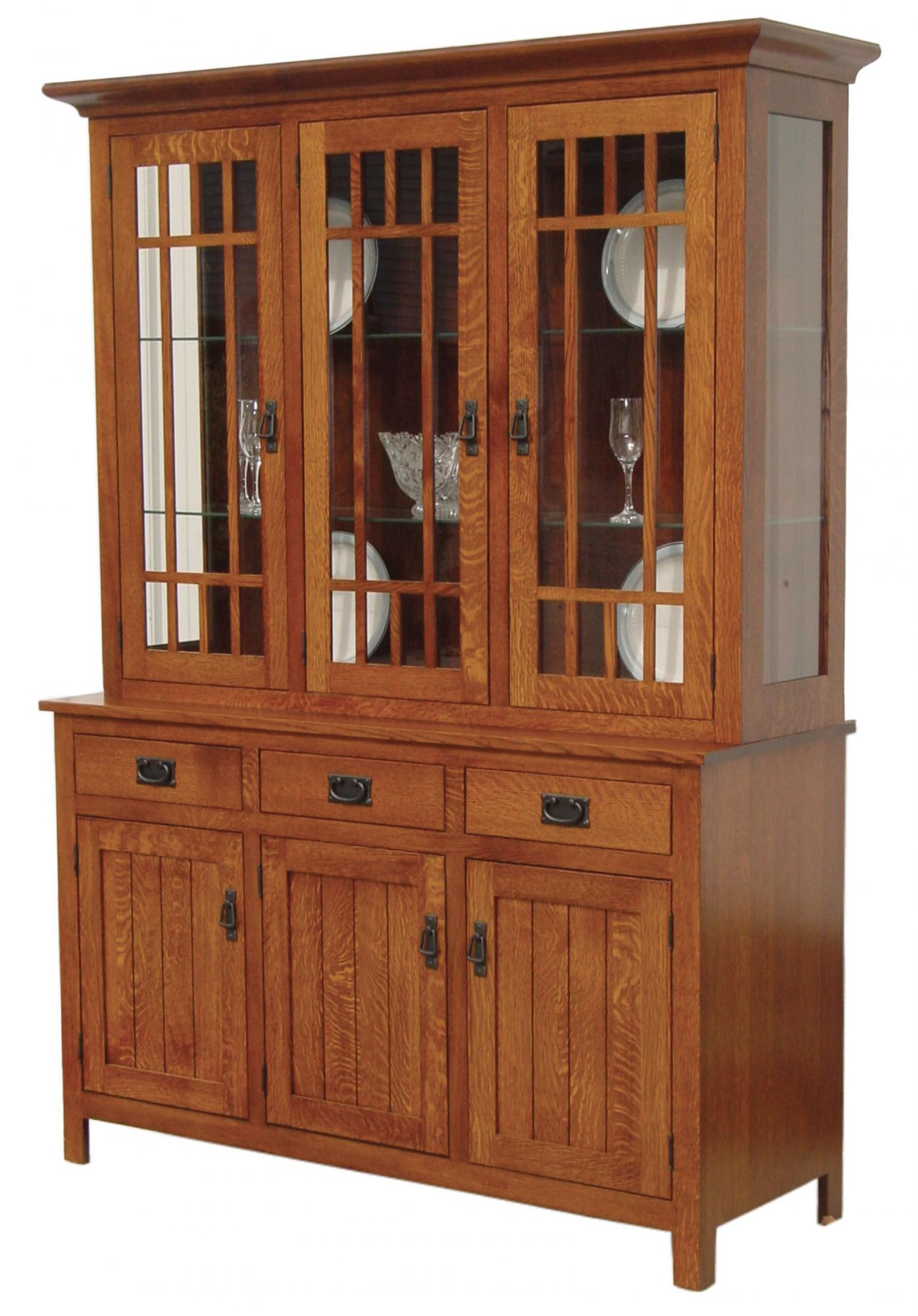 Midway Mission Hutch Amp Buffet Amish Furniture Store