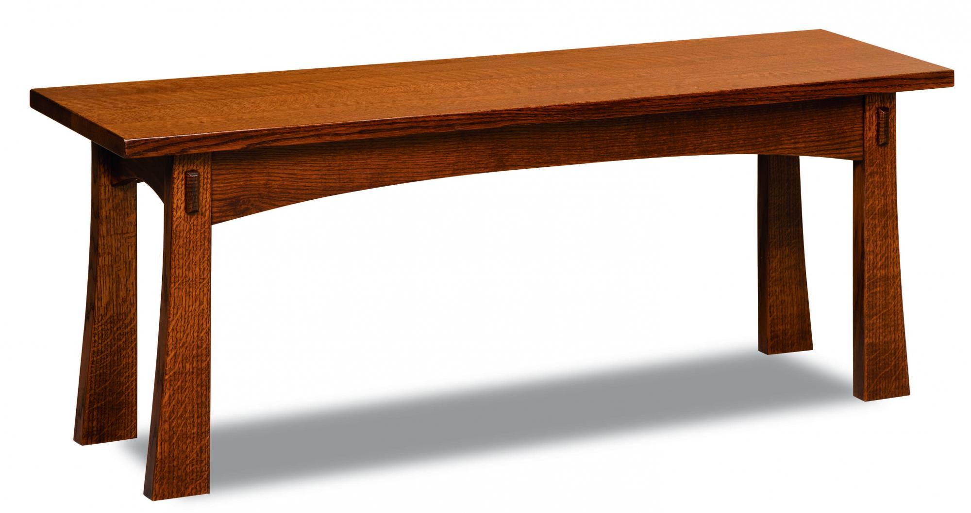 Modesto Trestle Bench Amish Furniture Store Mankato Mn