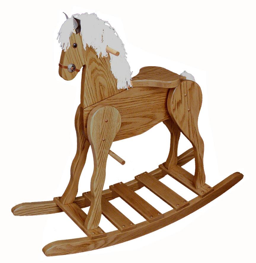 Wooden Rocking Horse ~ Rocking toys amish furniture store mankato mn