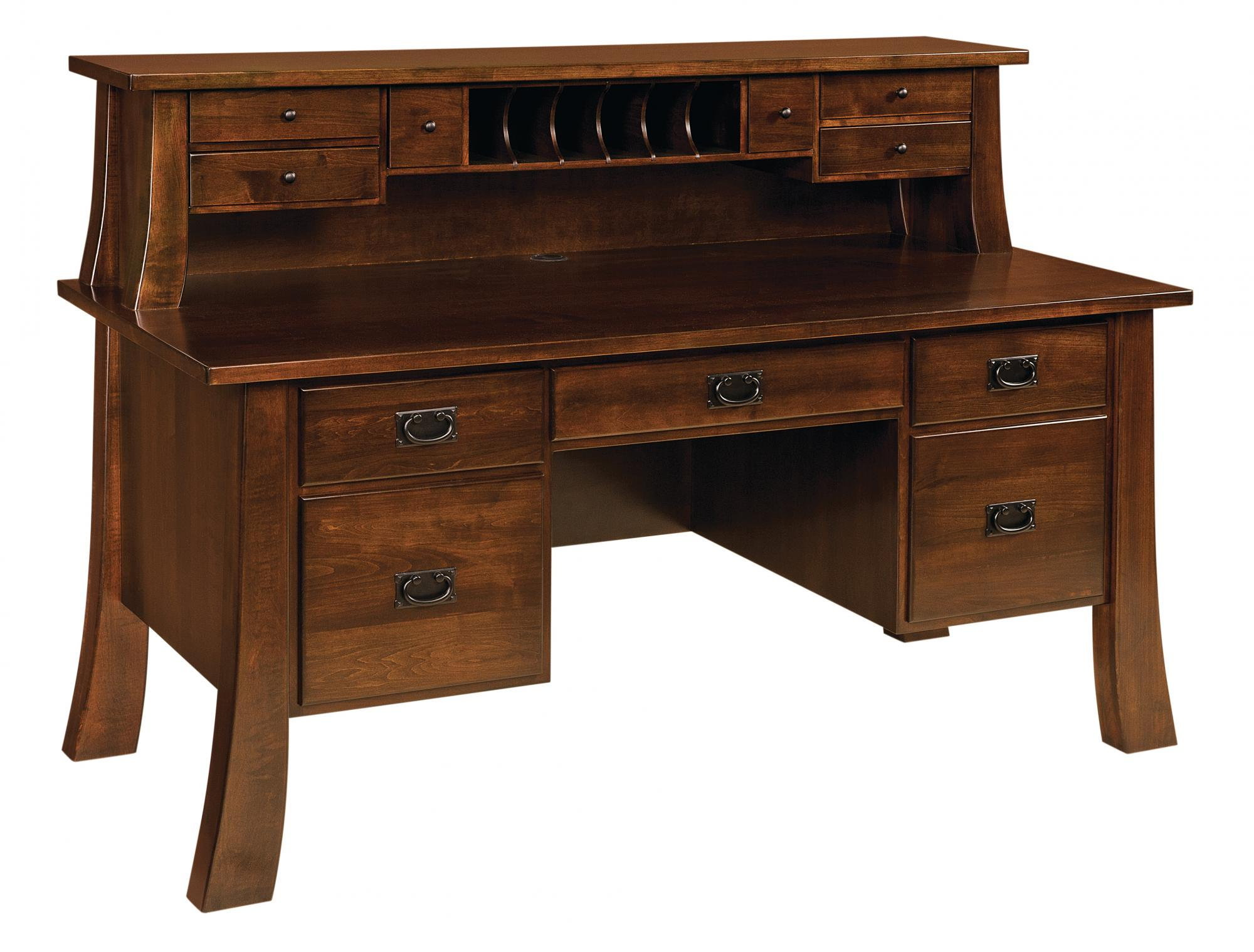 Witmer Executive Desk Amish Furniture Store Mankato Mn