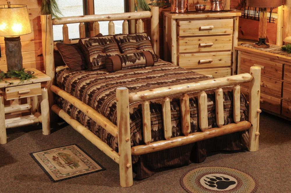 White Cedar Bed - Amish Furniture Store - Mankato, MN