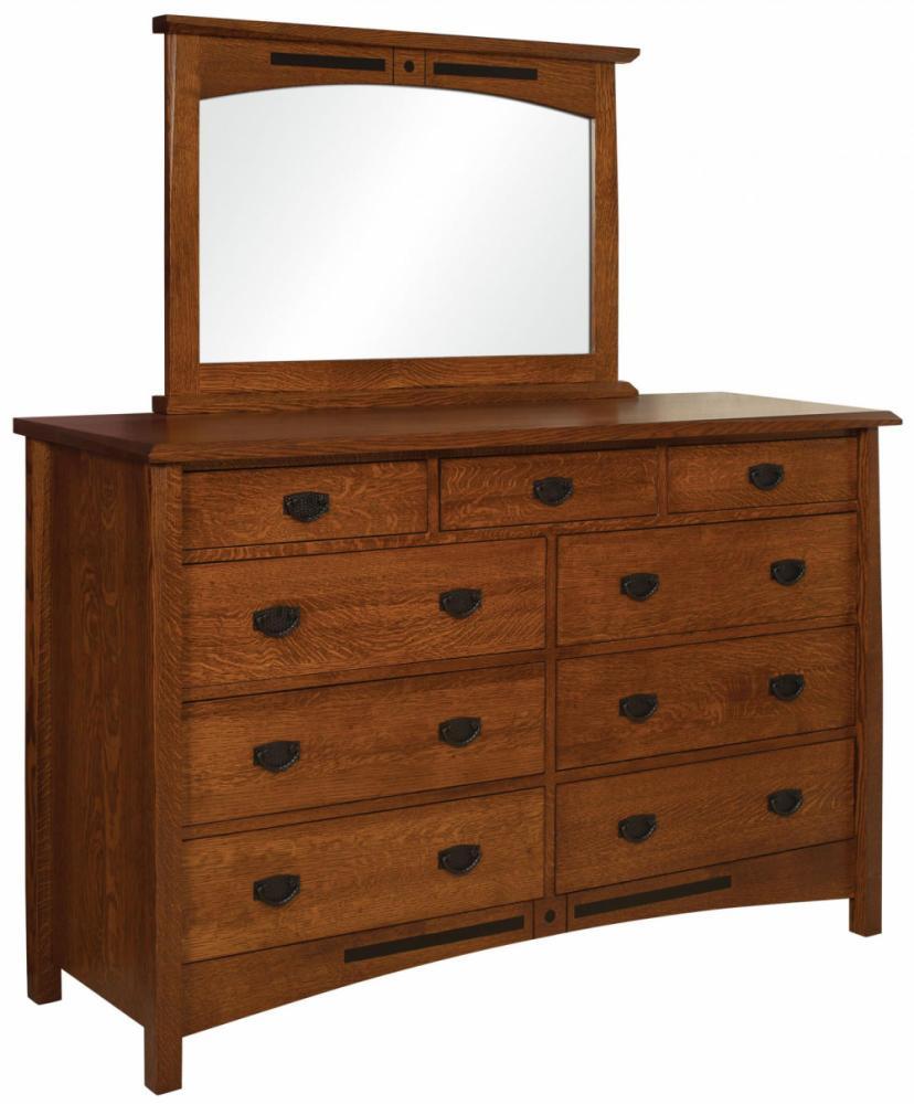 High 9 Drawer Dresser Amish Furniture Store Mankato MN