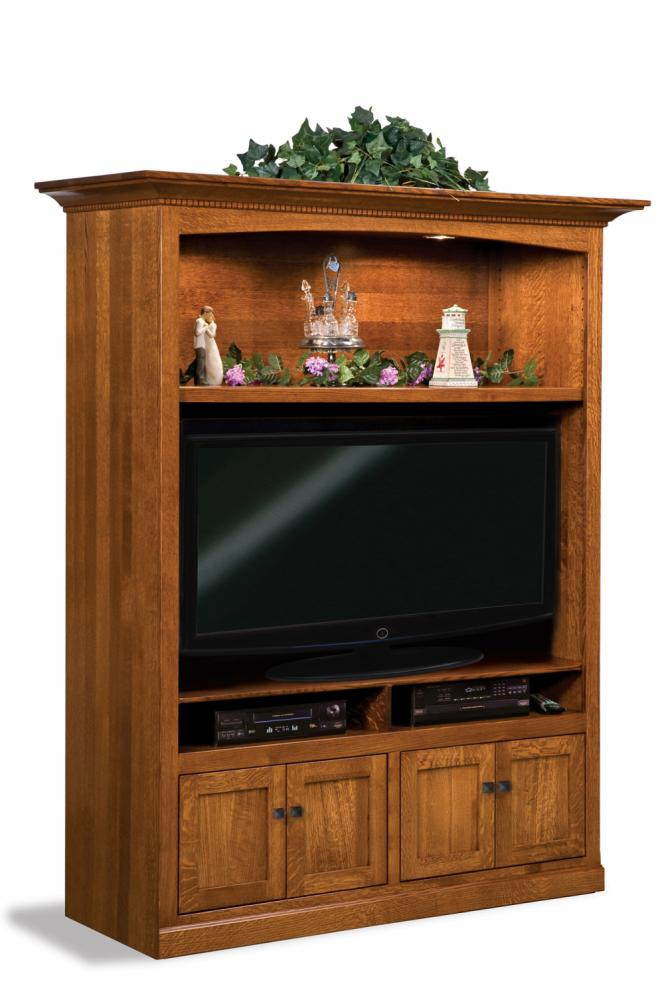Manhattan Mission Home Theater Wall Unit Amish Furniture