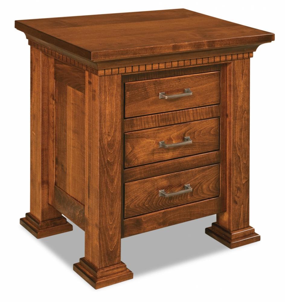 3 Drawer Nightstand Amish Furniture Store Mankato MN