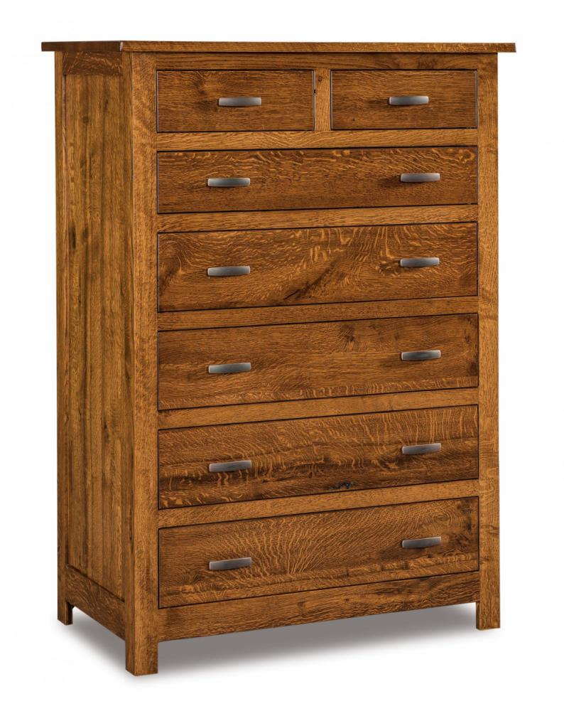 Flush Mission 7 Drawer Chest Amish Furniture Store