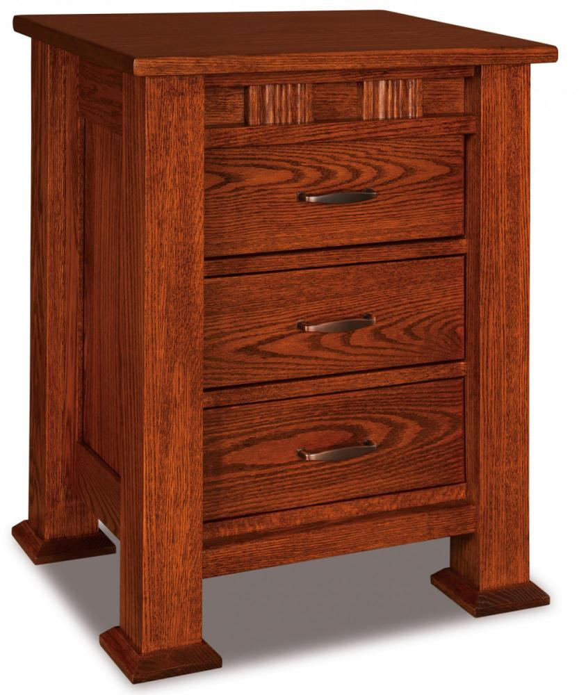 Sequoyah 3 Drawer Nightstand Amish Furniture Store