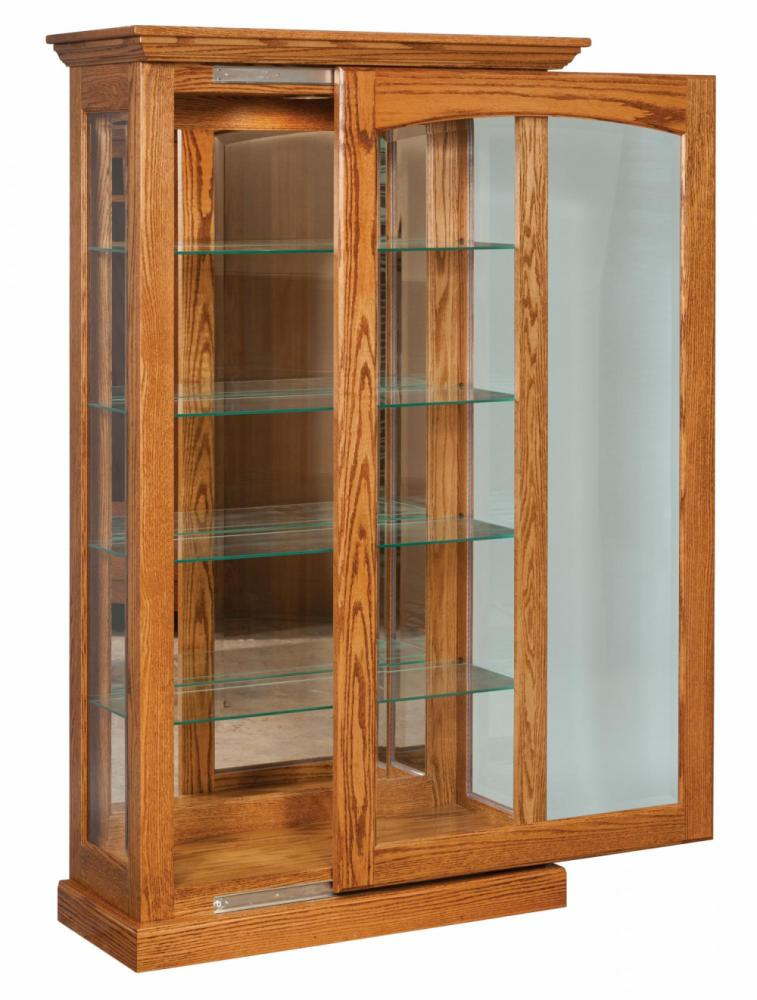traditional sliding door curio
