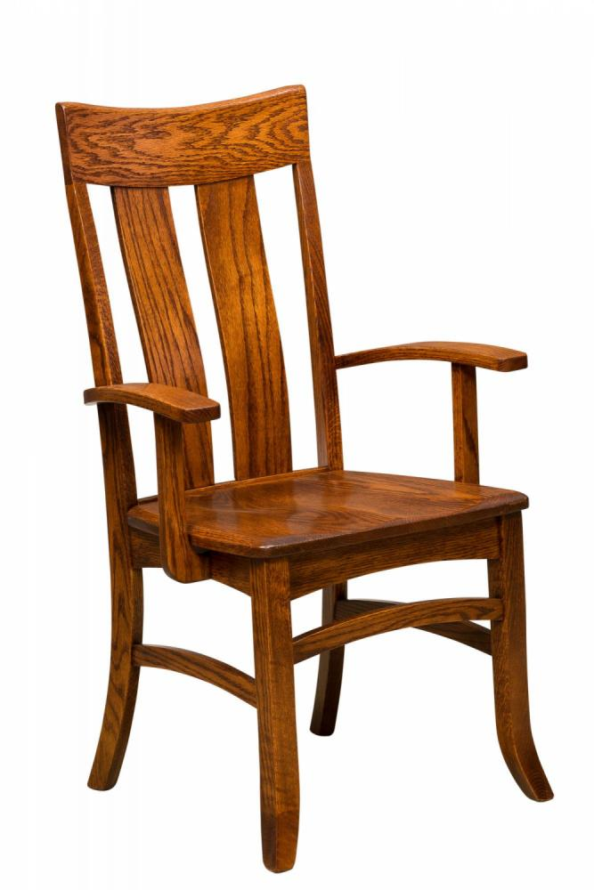 The Warren Chair Is Available As A Standard Chair, With Or Without Arms.  Ask About Our Different Seat Options For Chairs.