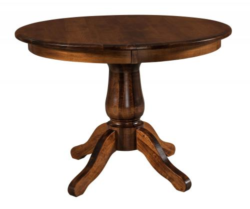 Pedestal tables amish furniture for mankato mn for Dining room tables easton