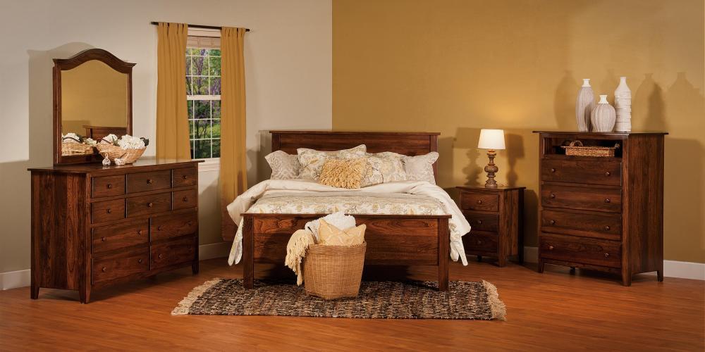 2 Drawer 1 Opening Nightstand Amish Furniture Store Mankato MN